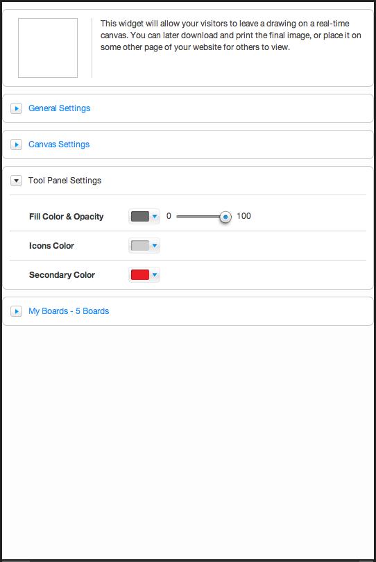 tool panel settings