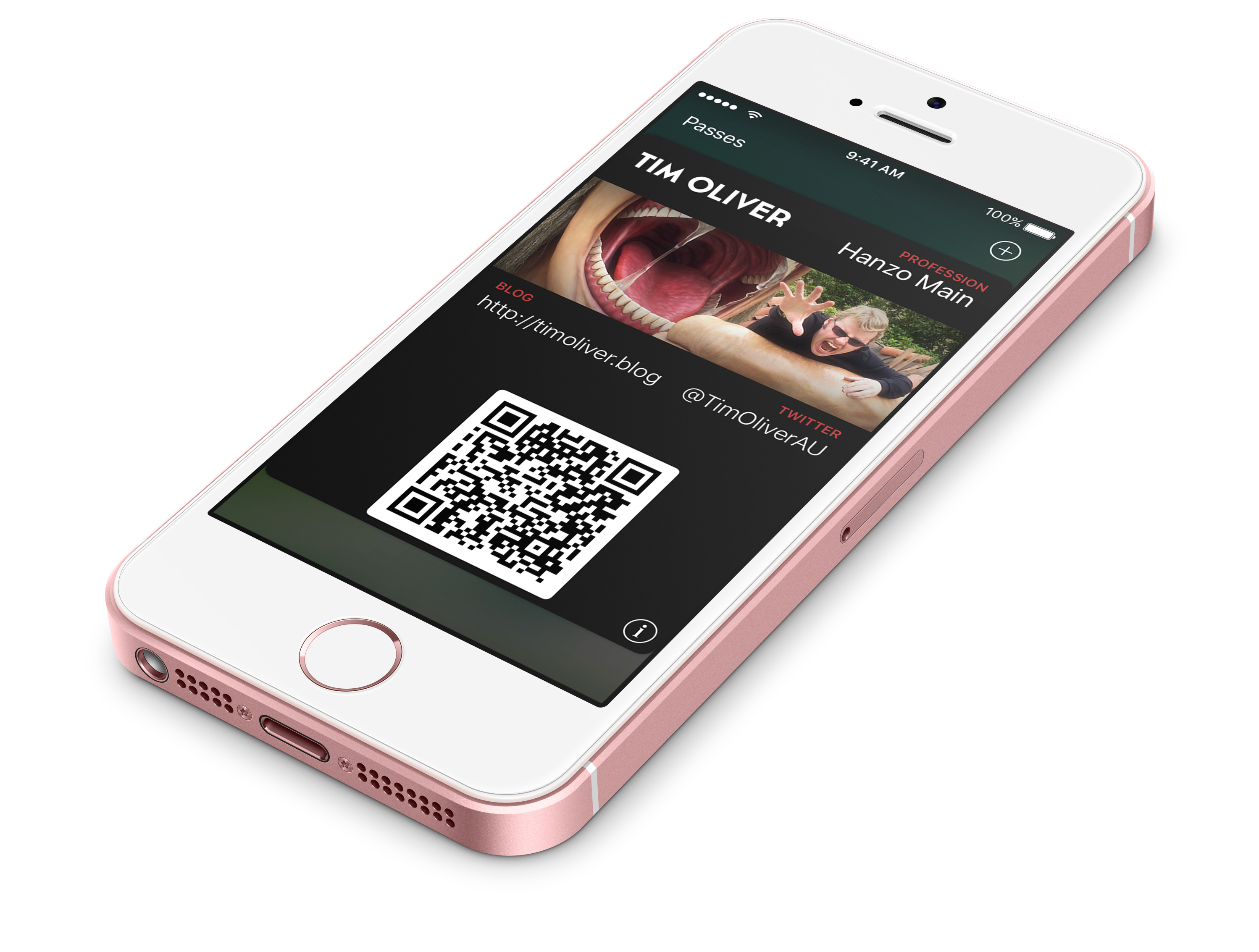 Github timoliverpasskit business card a template for ios wallet a template that can be used to generate passes for the ios wallet app that can be used like business cards reheart Images