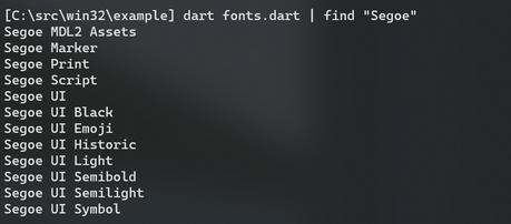 Fonts screenshot