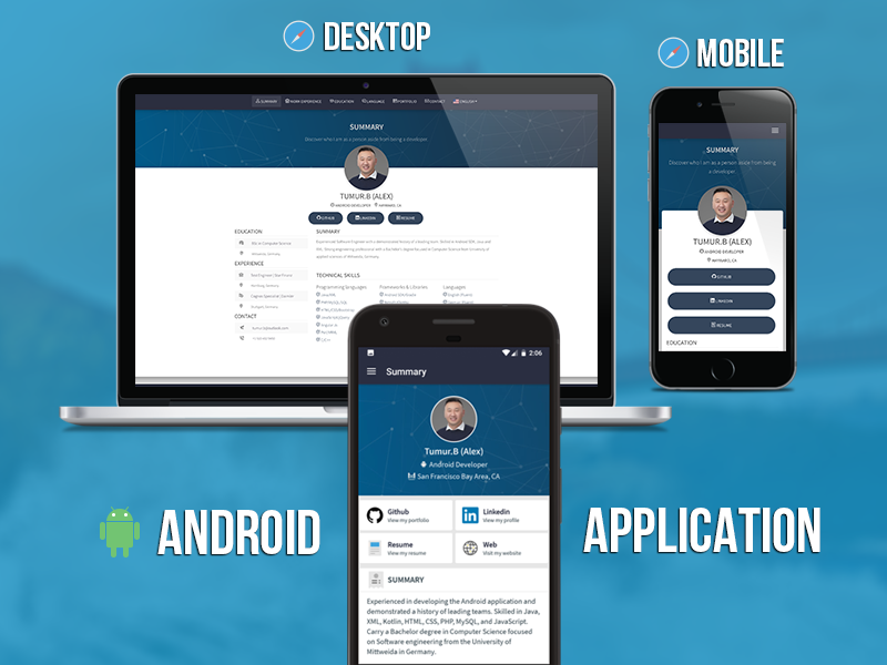 Personal Resume App Screenshot