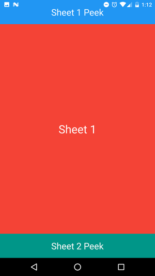Android: Nested bottom sheet click/drag touch event issue