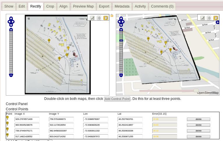 Map Warper screenshot of main interface