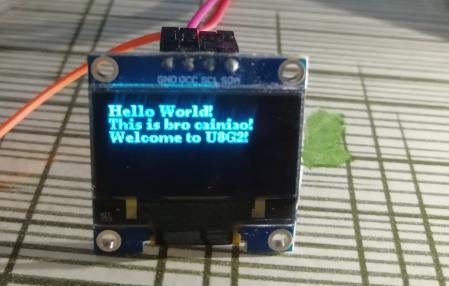 玩转u8g2 OLED库,一篇就够- 单片机菜鸟的博客- CSDN博客