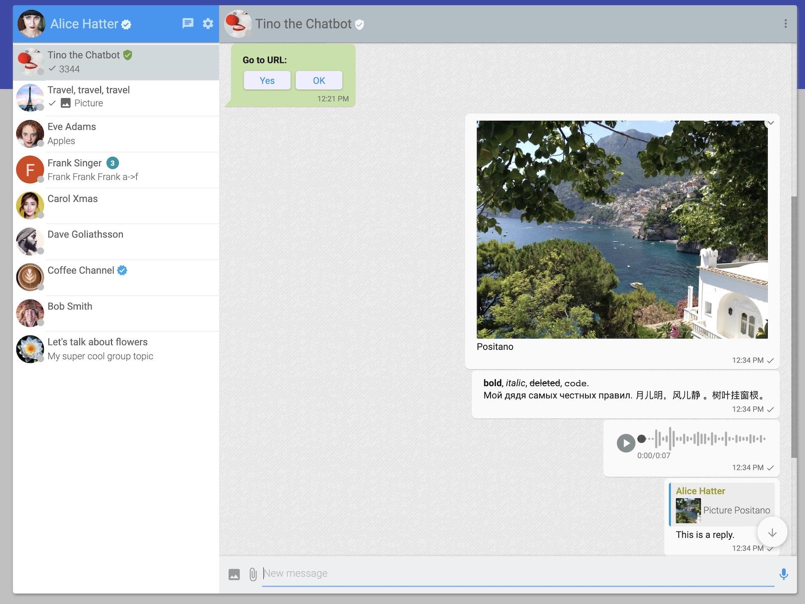 Desktop web: full app