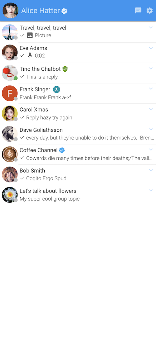 Mobile web: contacts