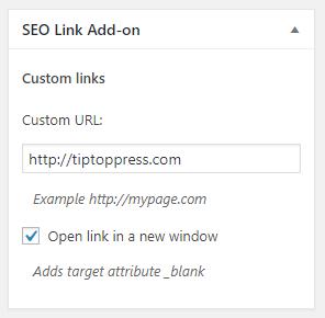 Add custom links for each post