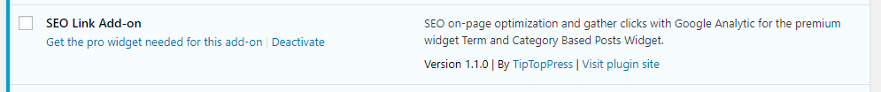 Activate the Add-on in the widget admin