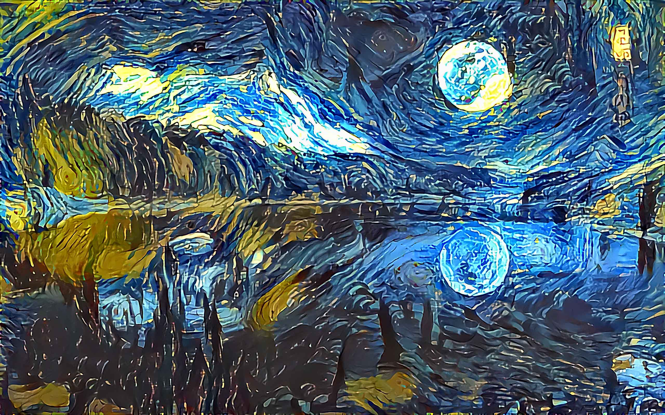 blue moon lake style transfer