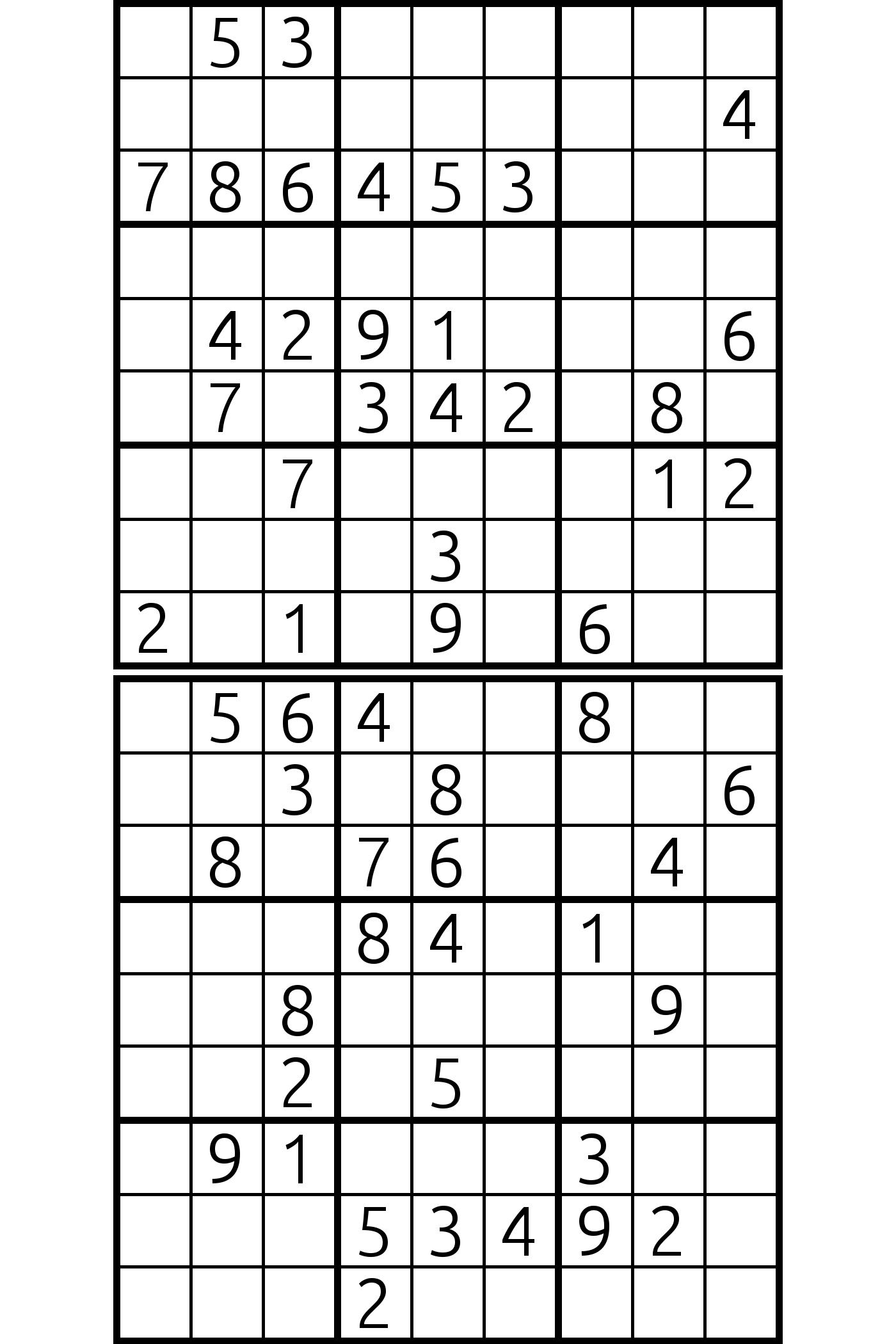 sudoku page