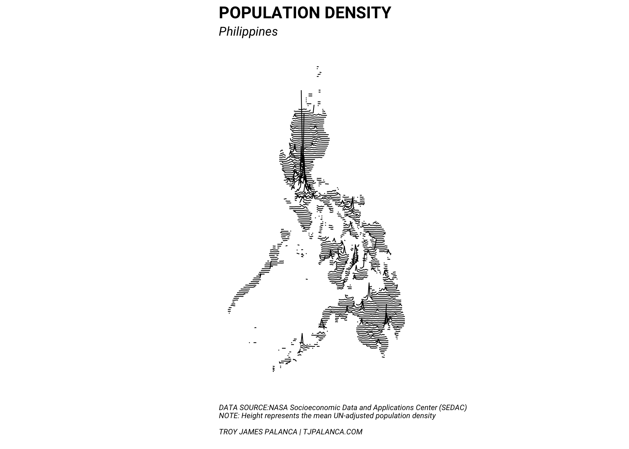 Map Of Bicol Region On Minimalistic Maps Mapping Population Density In The