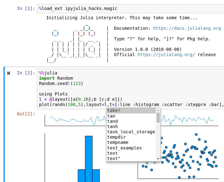 Julia in IPython kernel in Jupyter notebook