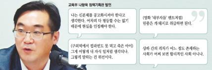 """(경향신문) 교육부 고위간부 """"민중은 개·돼지..신분제 공고화해야"""