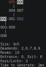 Grid with Keys and Locks Level Generator Screenshot