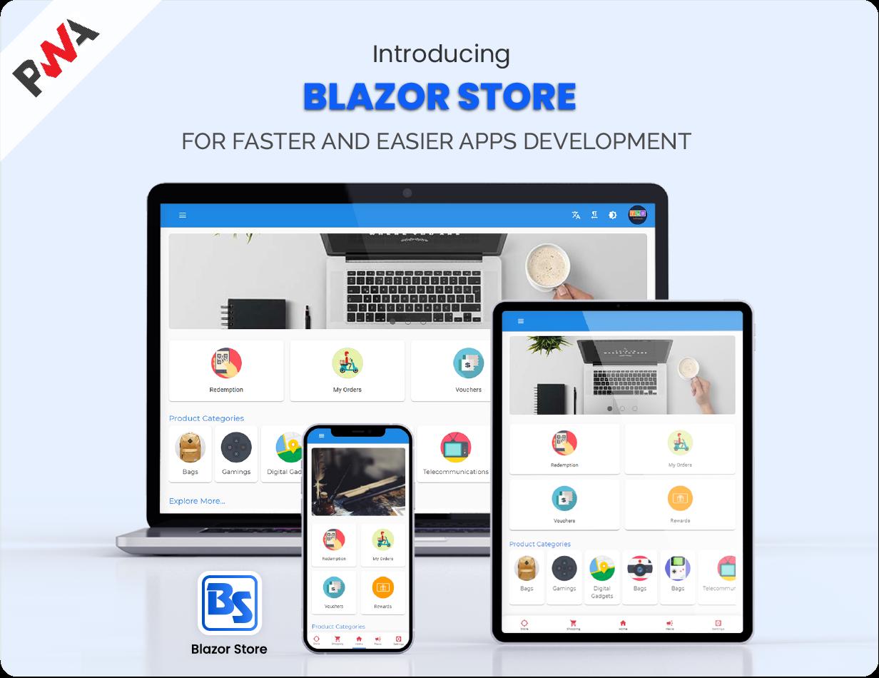 Blazor Store - Mobile PWA and Site Templates - 1