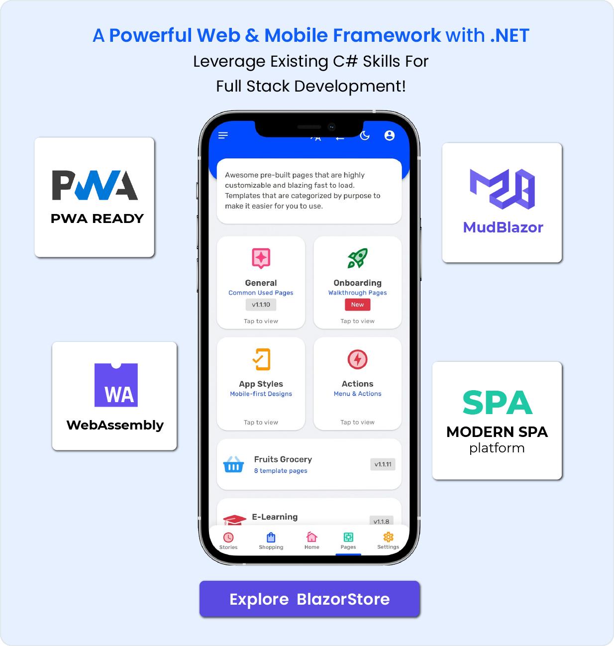 Blazor Store - Mobile PWA and Site Templates - 4