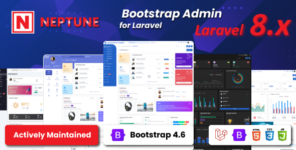 Neptune Laravel Admin UI Template - 1