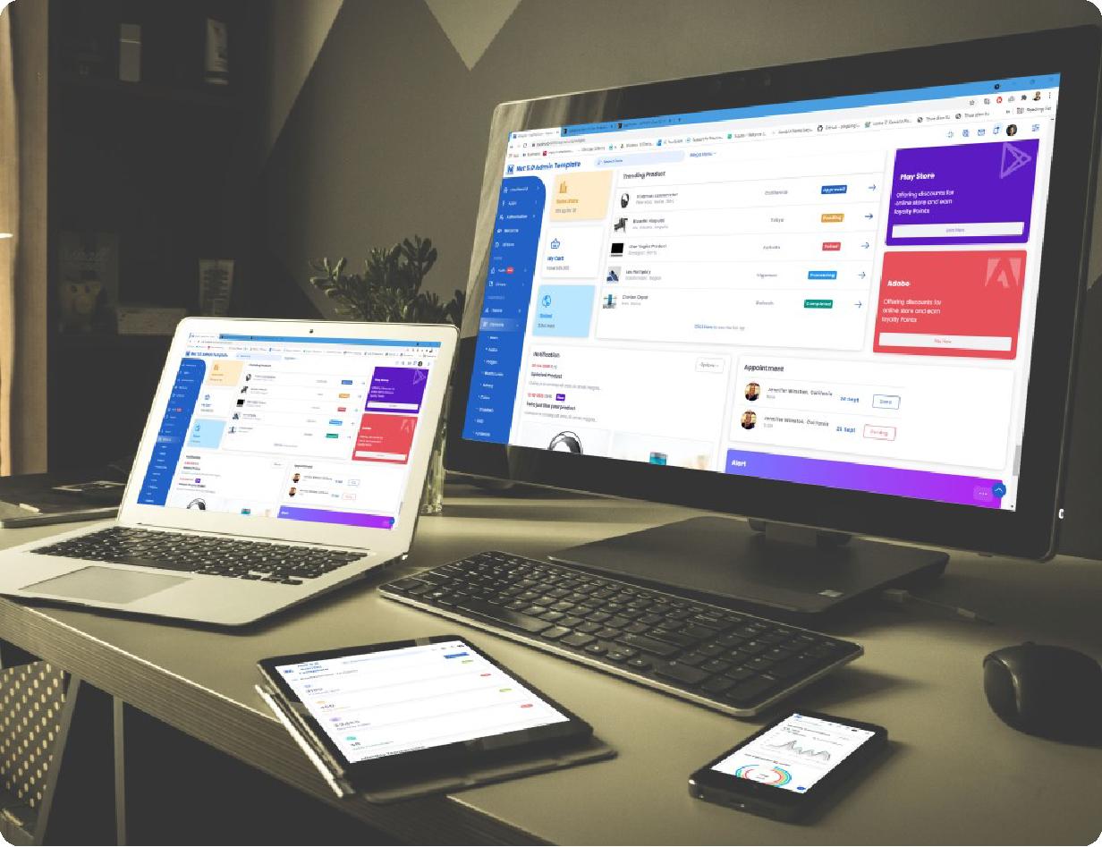 Neptune Laravel Admin UI Template - 4