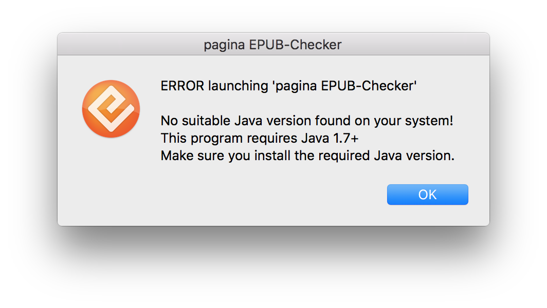 Error Dialog No Java Found