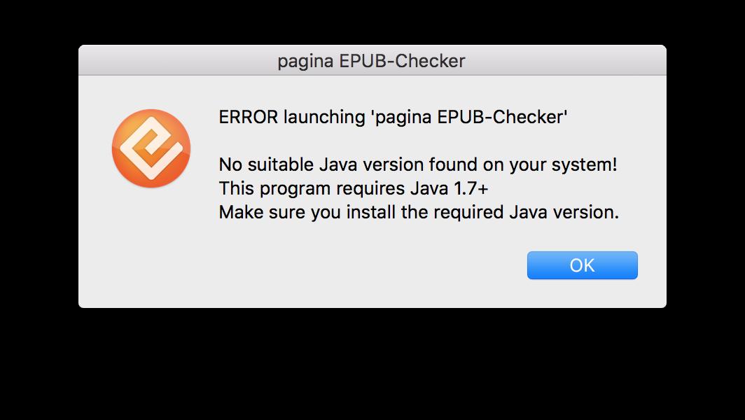 Error Dialog No Java Found