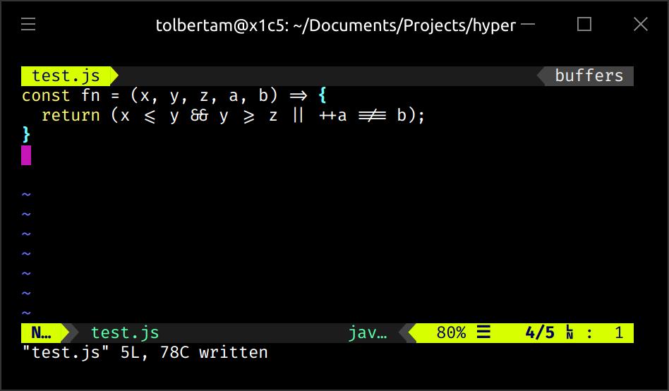 GitHub - tolbertam/hyper-font-ligatures: Extension for Hyper