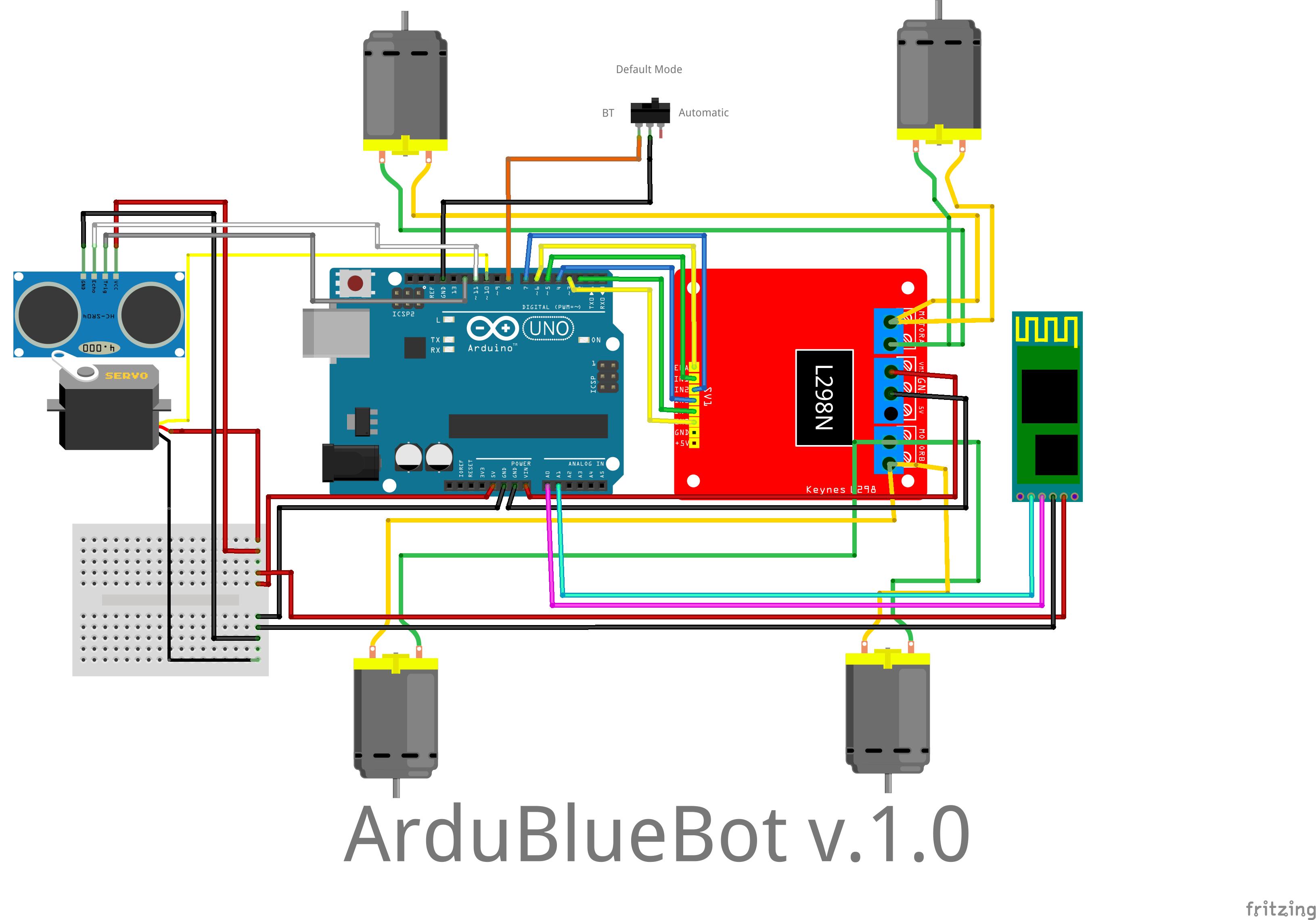 Tolbier ardubluebot wheel robot with arduino uno rev