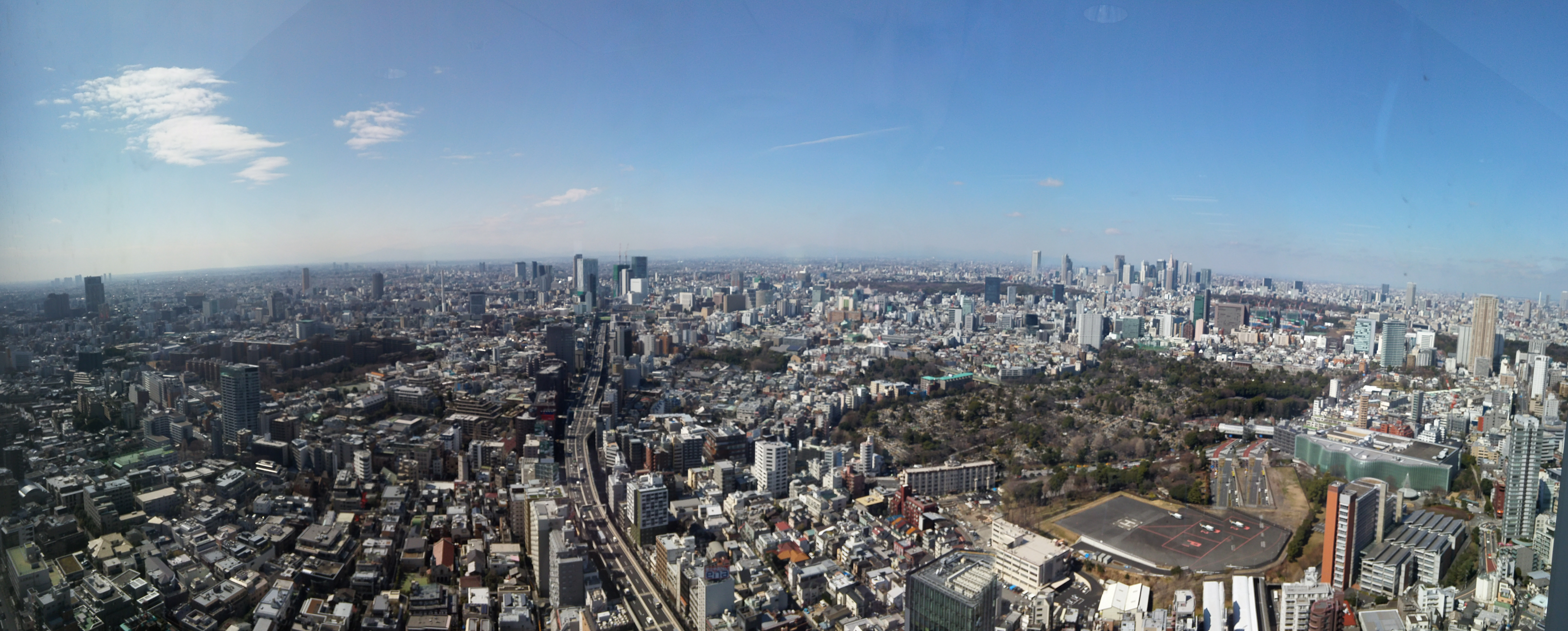 Tokyo panorama in sunny day
