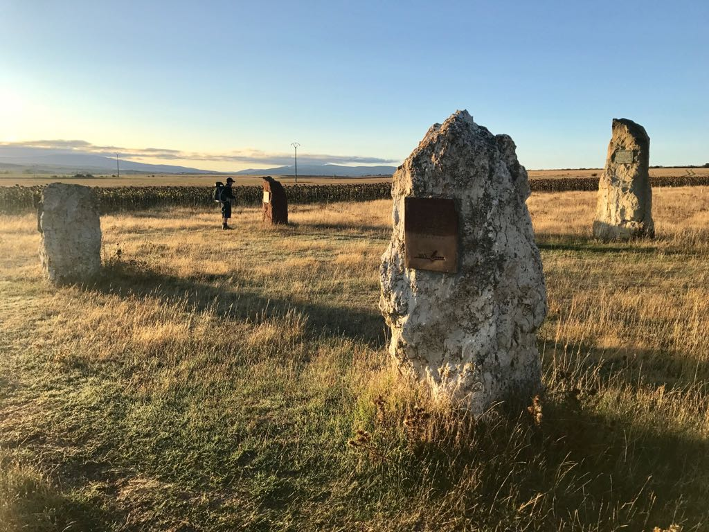 Ancient menhir stones near Atapuerco