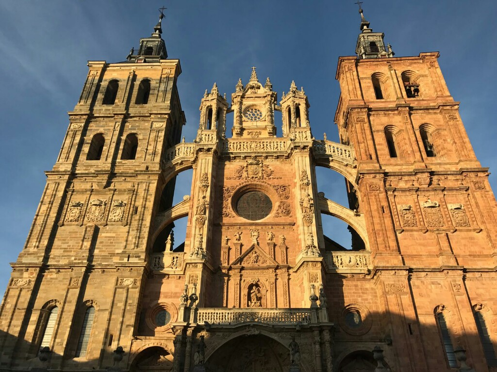 The main entrance side of Astorga cathedral