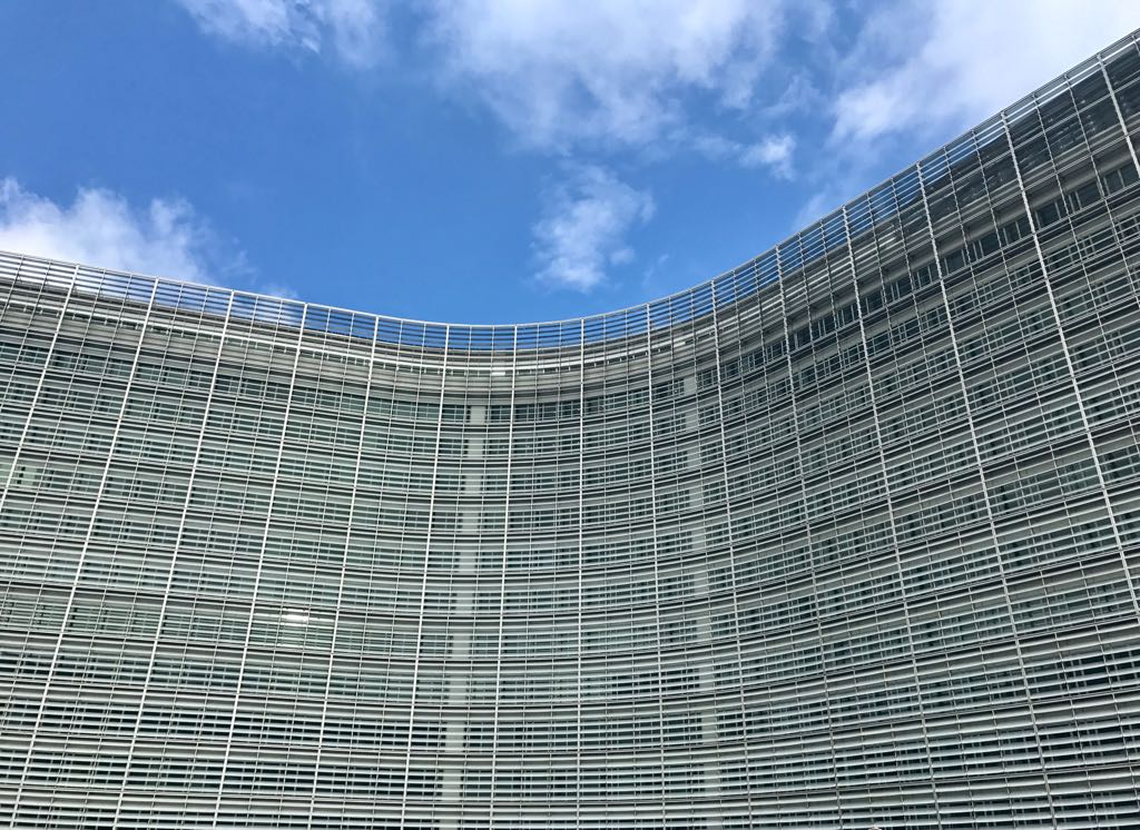 blue sky and the berlaymont