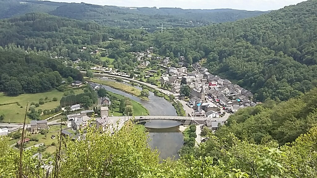 The town of Bohan from high above