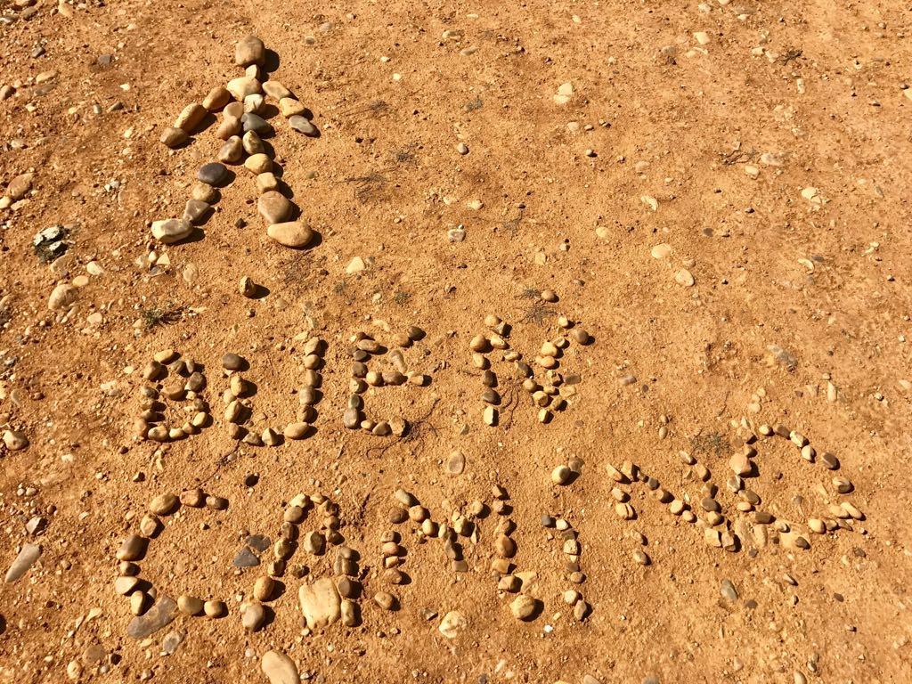 Buen Camino written in stones