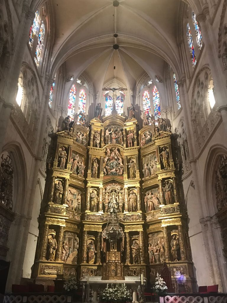 Massive gold relief in the main chapel of Burgos cathedral