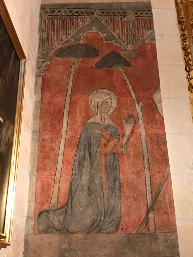 Mural from Burgos cathedral, we think of the Virgin Mary