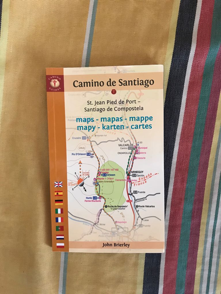 Front cover of our Camino de Santiago maps book