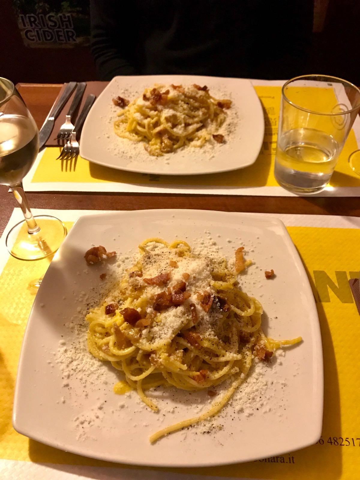 Carbonara from La Carbonara restaurant