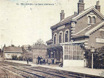 Felleries station ticket hall as it was