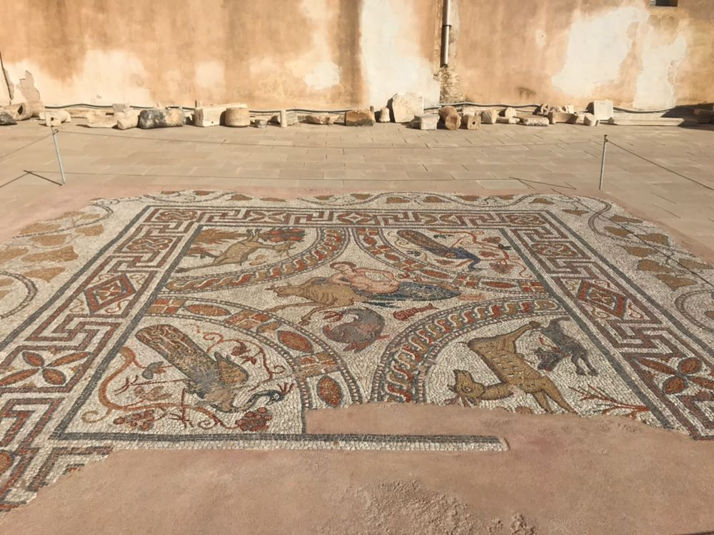 Floor mosaic from the Museum of Archaeology in Naxos