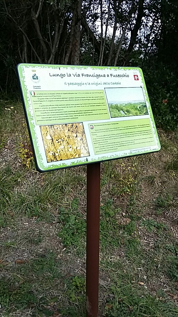 Board giving information about the area for that part of the Francigena