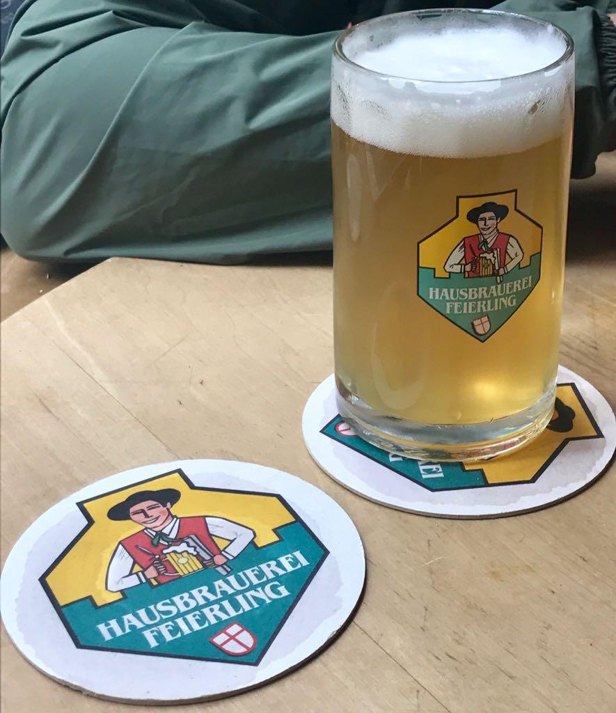 hausbrauerei feierling beer and beer mat