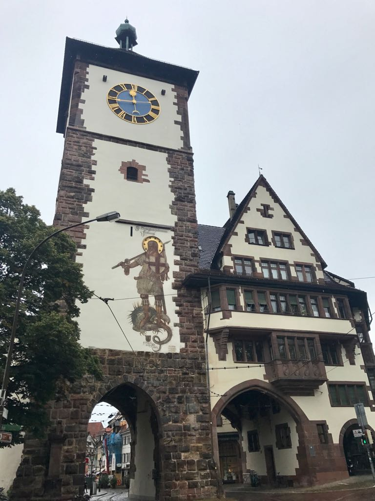 old tower in freiburg old town