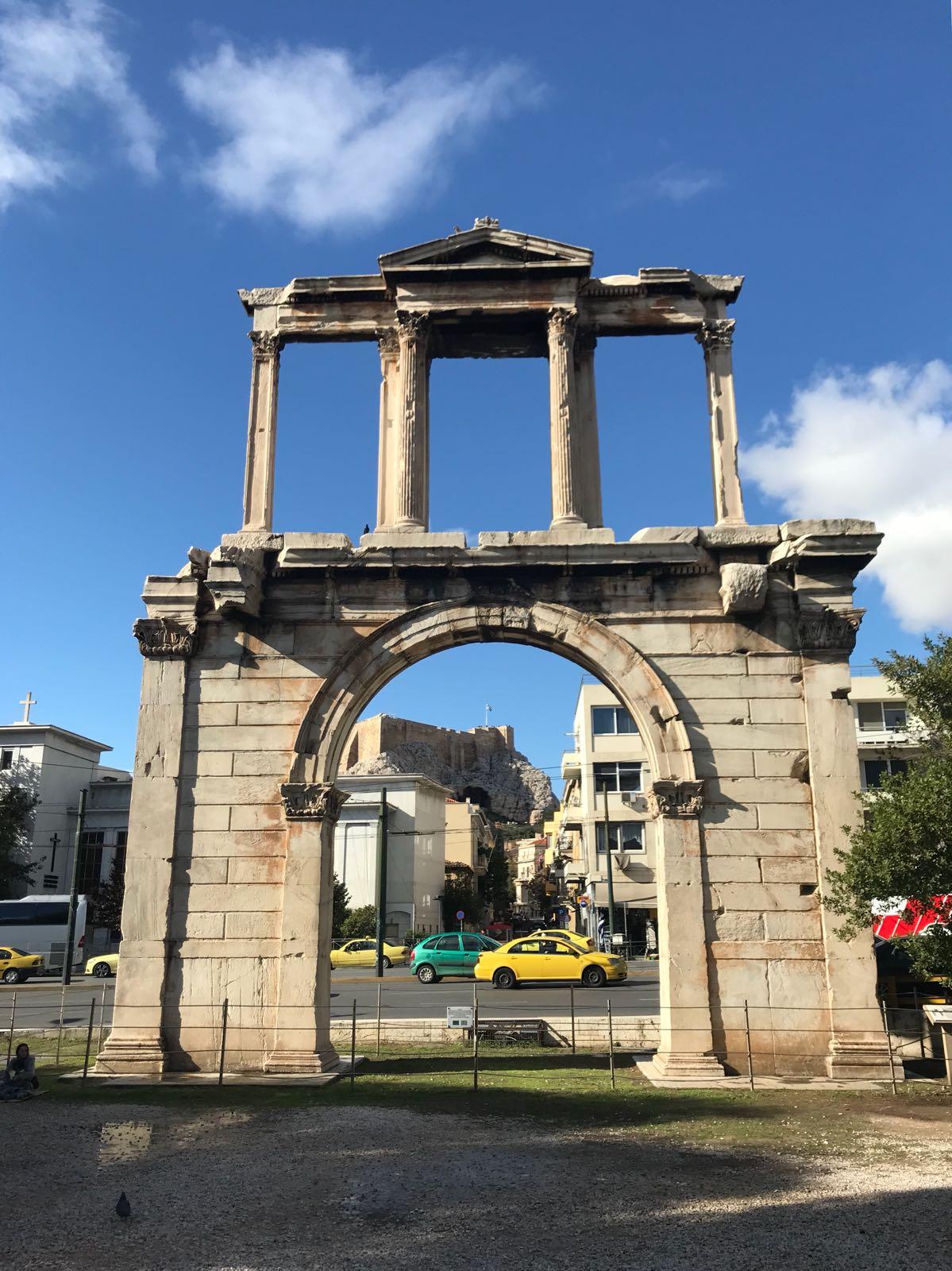 Hadrian's arch near the temple of Olympian Zeus