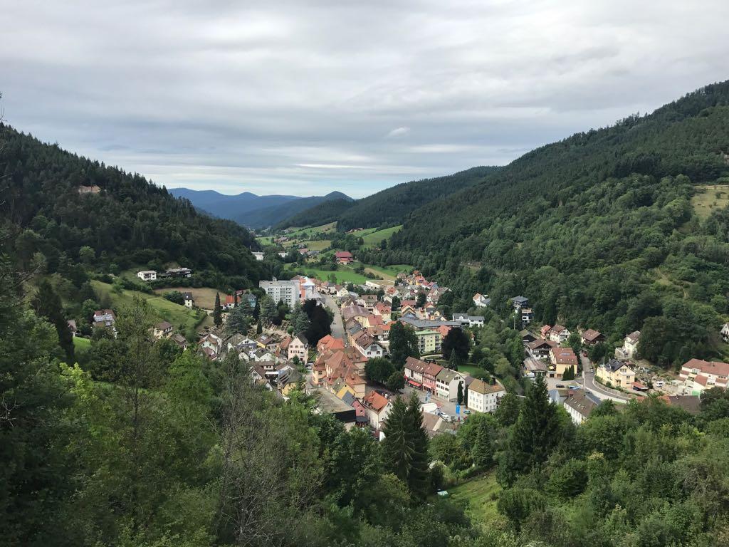 view of Hornberg from the castle