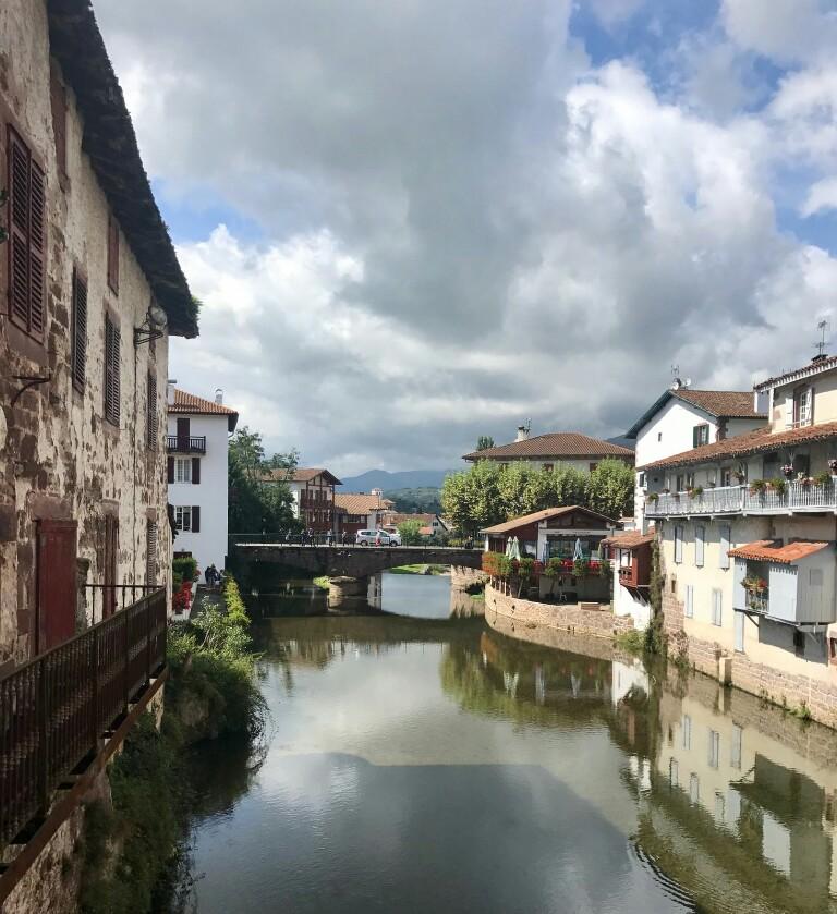 The La Nive river in Saint Jean Pied de Port