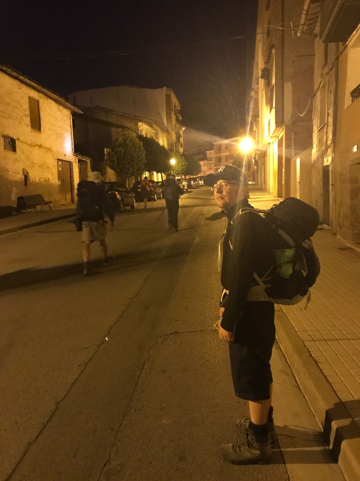 Leaving Najera early in the morning before sunrise