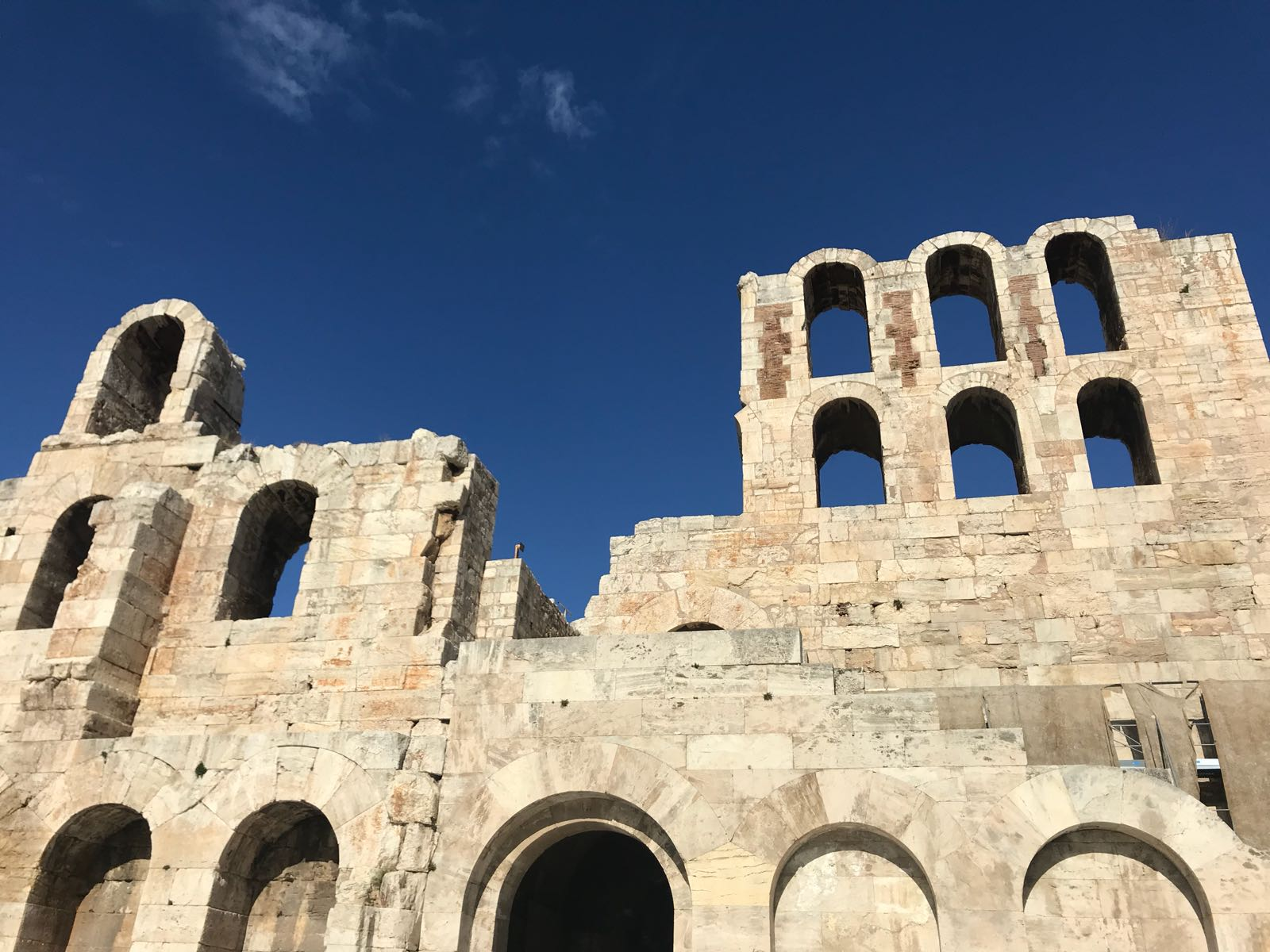Entrance to the Odeon of Herodes Atticus theatre in the Acropolis