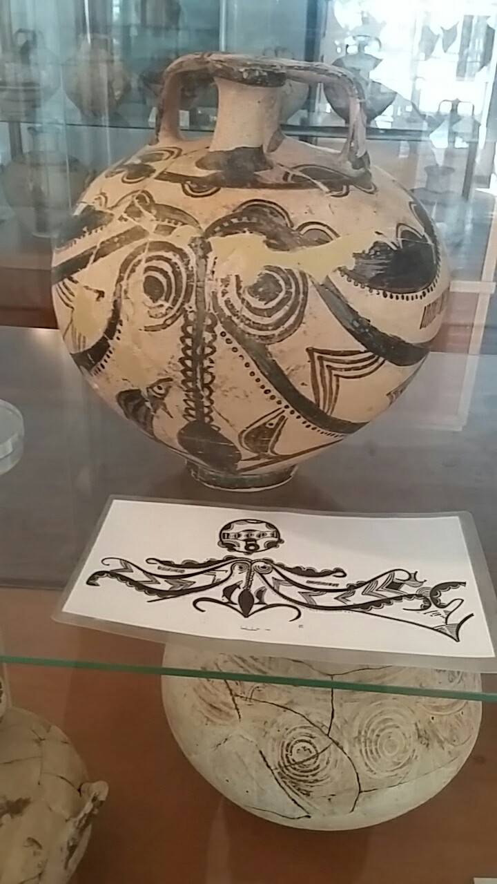 Patterned amphora from the Museum of Archaeology in Naxos