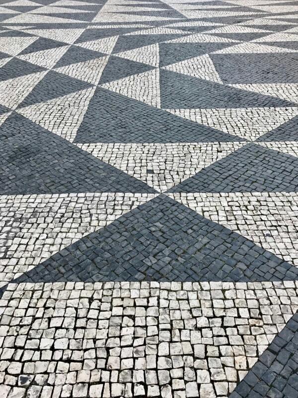 Patterned stone floor in Lisbon
