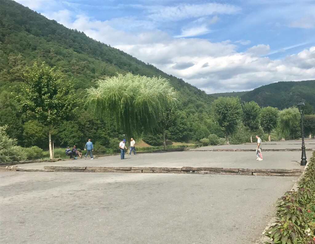 Petanque pitches along the banks of Revin