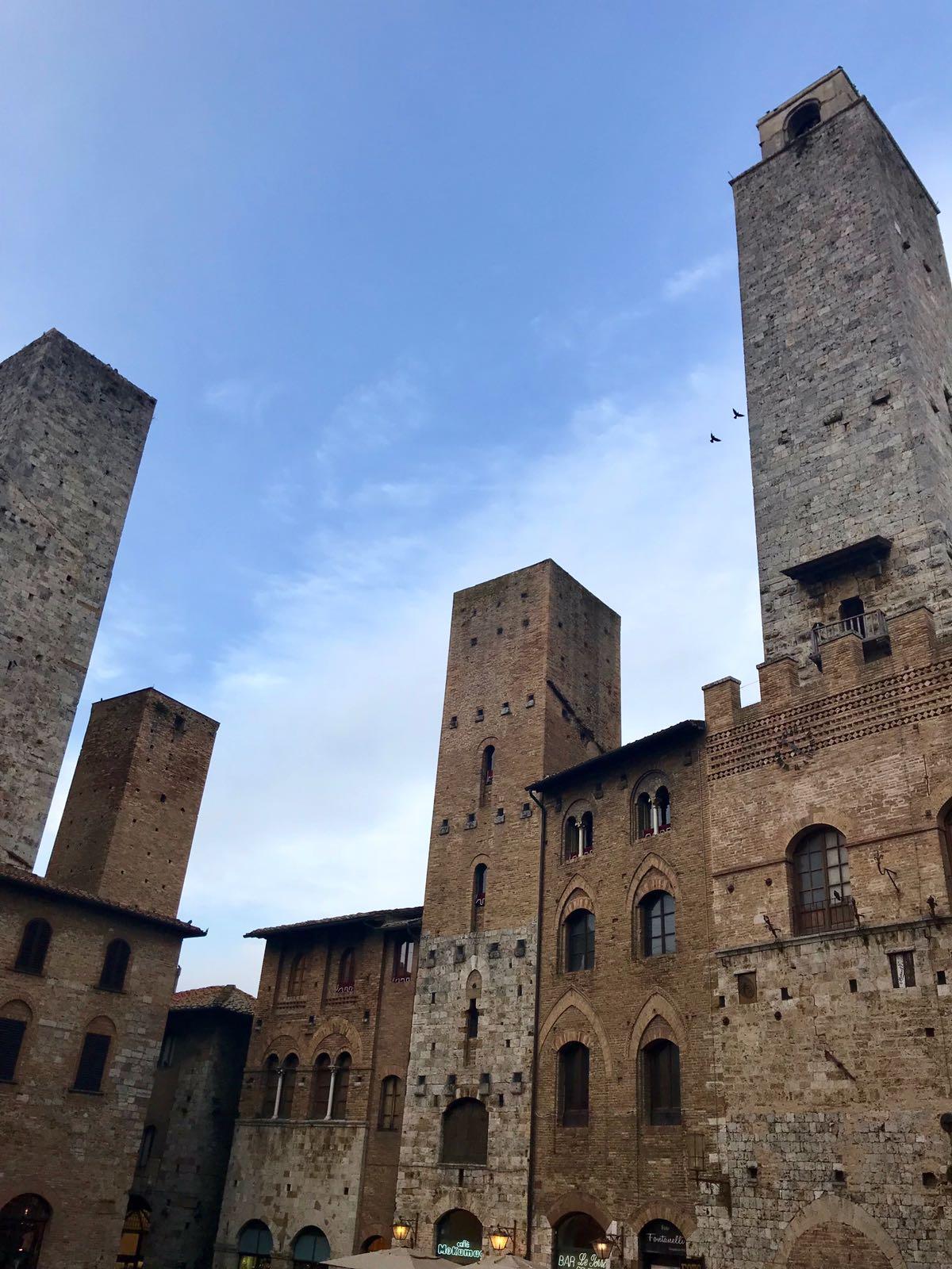 The towers of Piazza Della Erb in San Gimignano