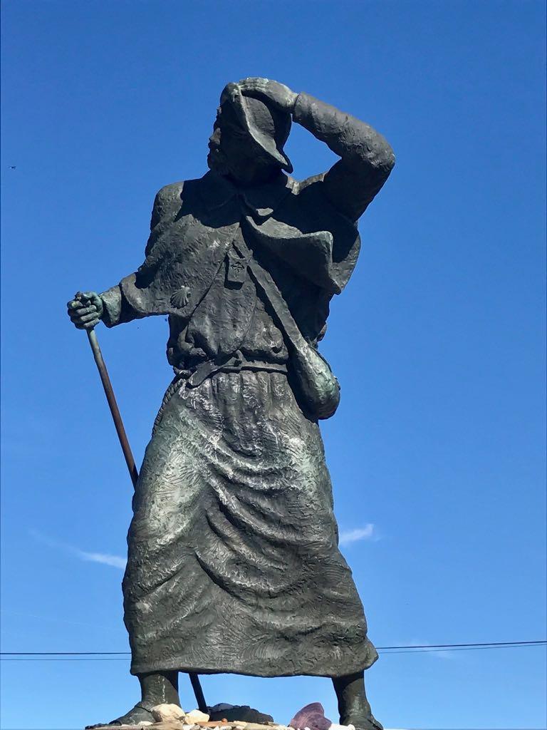 Pilgrim statue at alto San roque